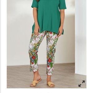 Soft Surroundings women in bloom flat front pants